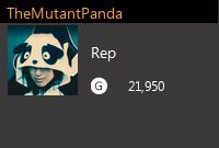 TheMutantPanda's Gamercard