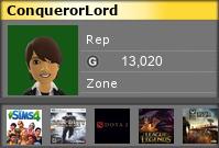 conquerorlord's Gamercard