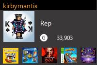 kirbymantis's Gamercard